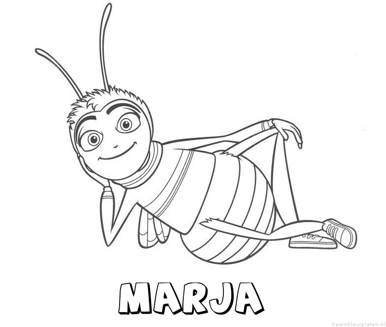 Marja bee movie kleurplaat