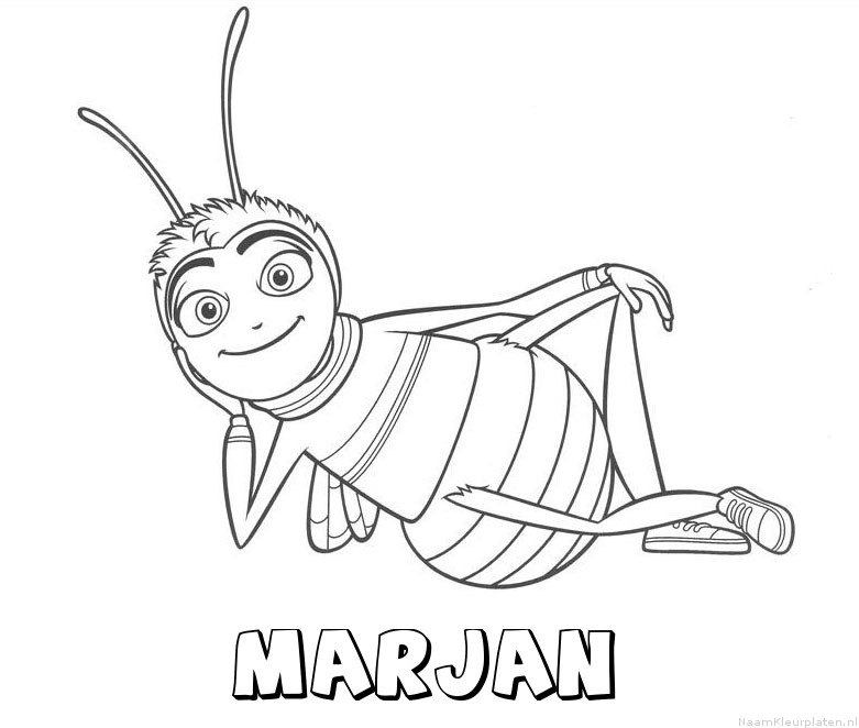 Marjan bee movie kleurplaat