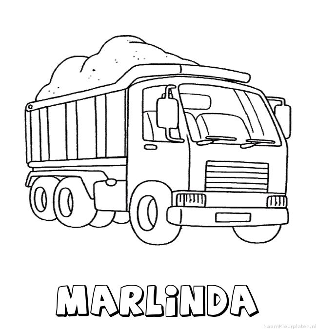 Marlinda vrachtwagen kleurplaat