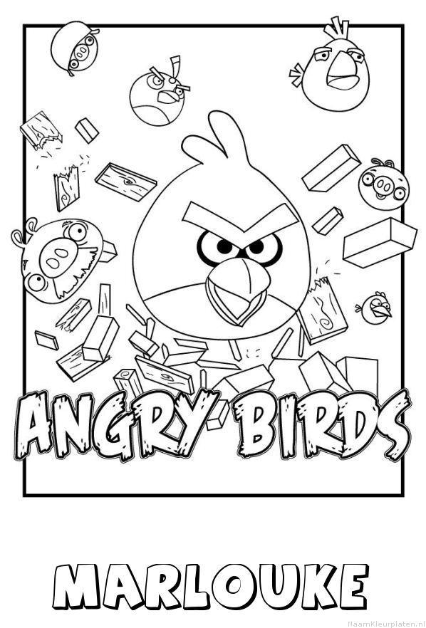 Marlouke angry birds kleurplaat