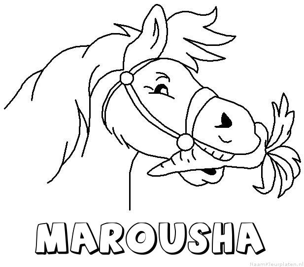 Marousha paard van sinterklaas kleurplaat