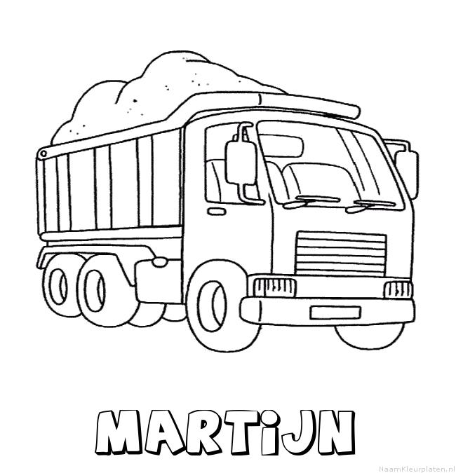 Martijn vrachtwagen kleurplaat