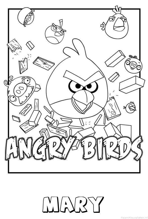Mary angry birds kleurplaat