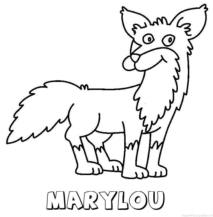 Marylou vos kleurplaat