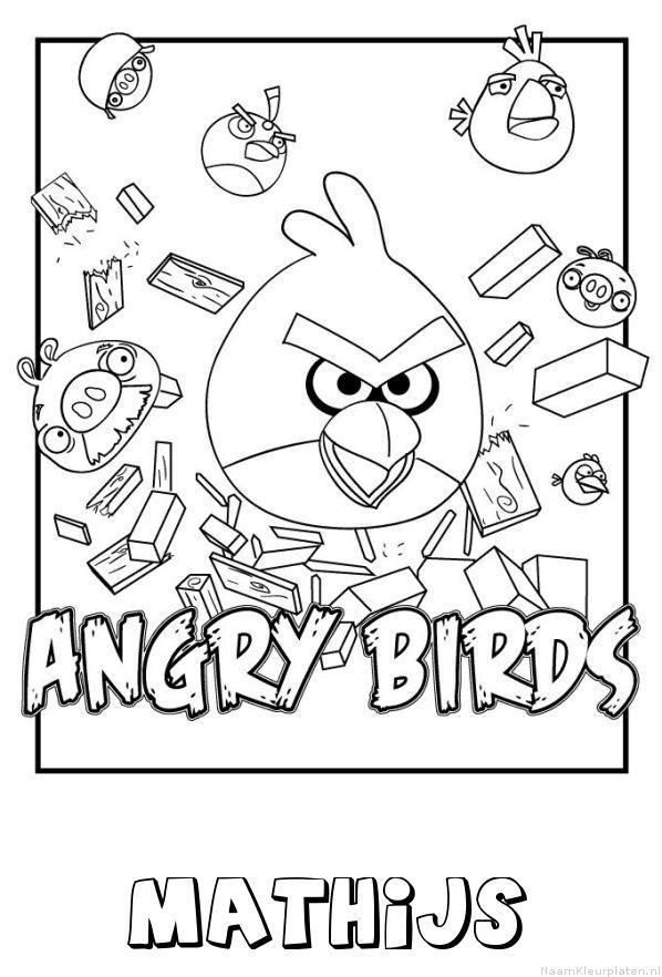 Mathijs angry birds kleurplaat