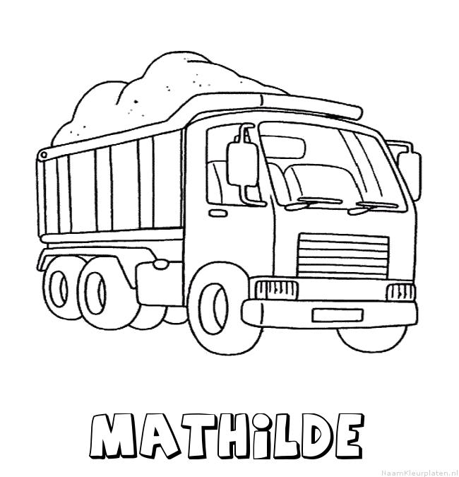 Mathilde vrachtwagen kleurplaat