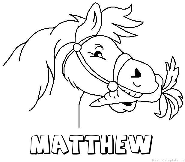 Matthew paard van sinterklaas kleurplaat