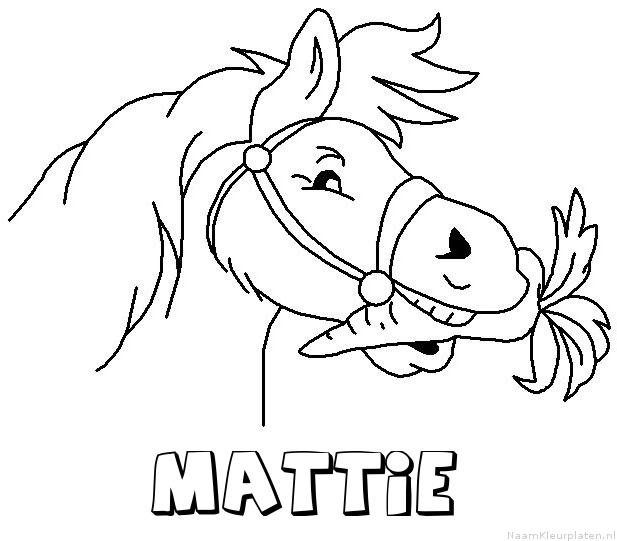 Mattie paard van sinterklaas kleurplaat