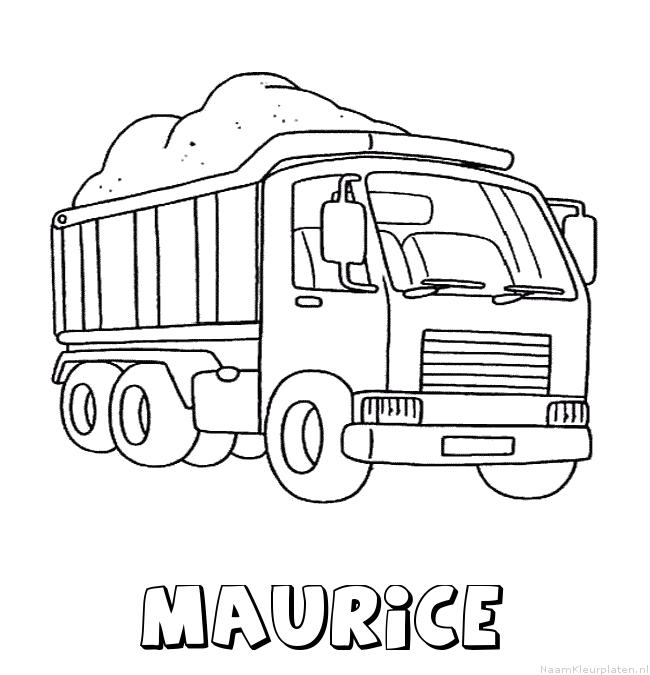 Maurice vrachtwagen kleurplaat