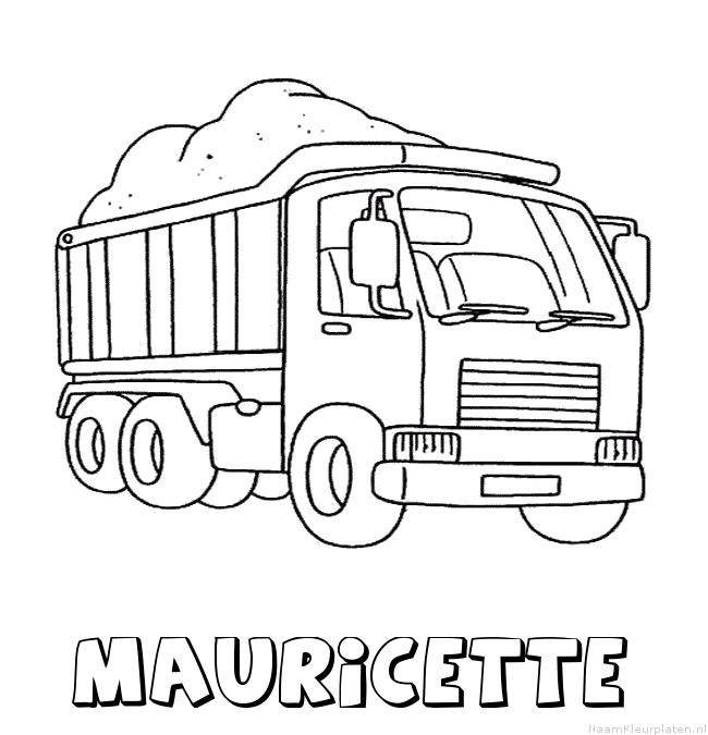 Mauricette vrachtwagen kleurplaat
