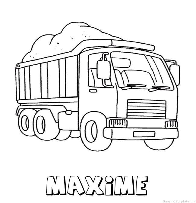 Maxime vrachtwagen kleurplaat