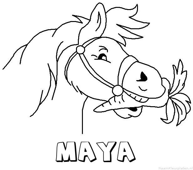 Kleurplaten Van Maya De Bij.Maya Paard Van Sinterklaas Naam Kleurplaat