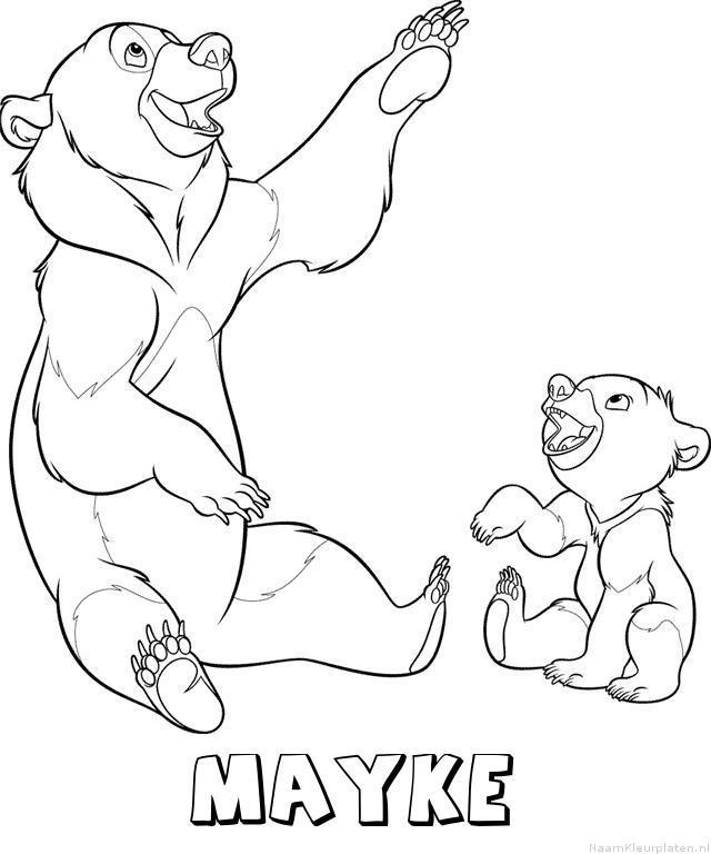 Mayke brother bear kleurplaat