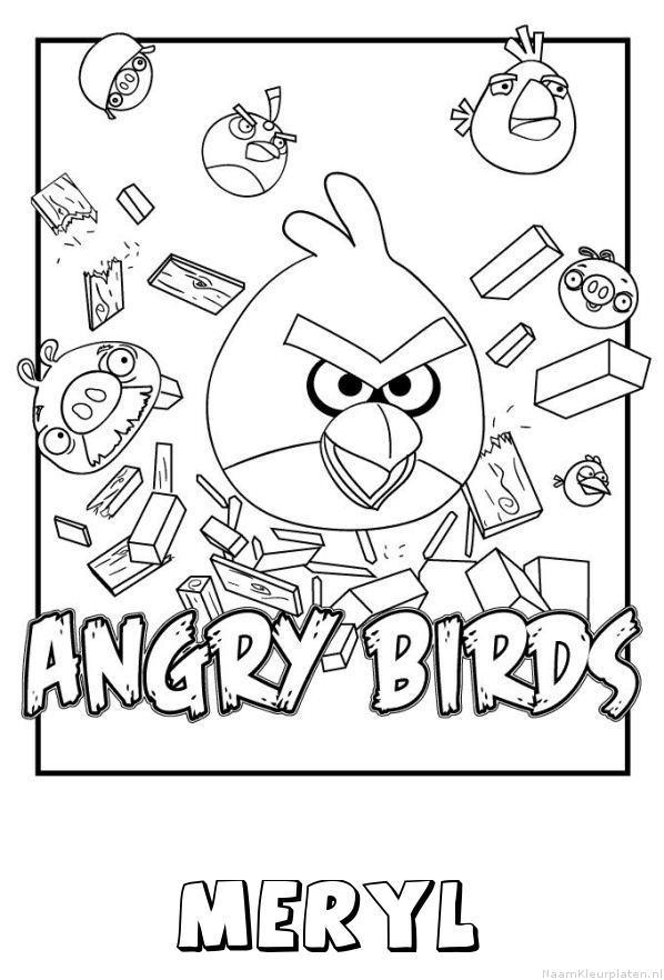 Meryl angry birds kleurplaat