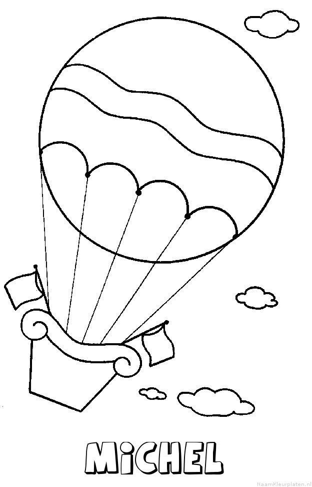 Michel luchtballon kleurplaat