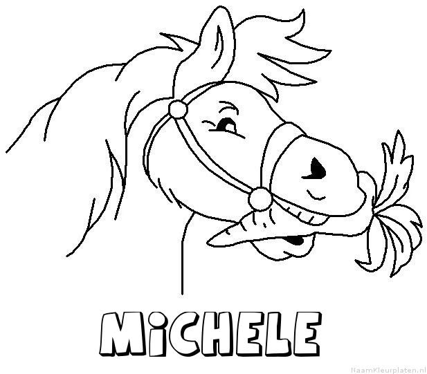 Michele paard van sinterklaas kleurplaat