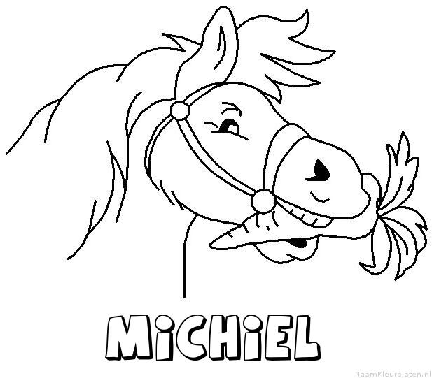 Michiel paard van sinterklaas kleurplaat