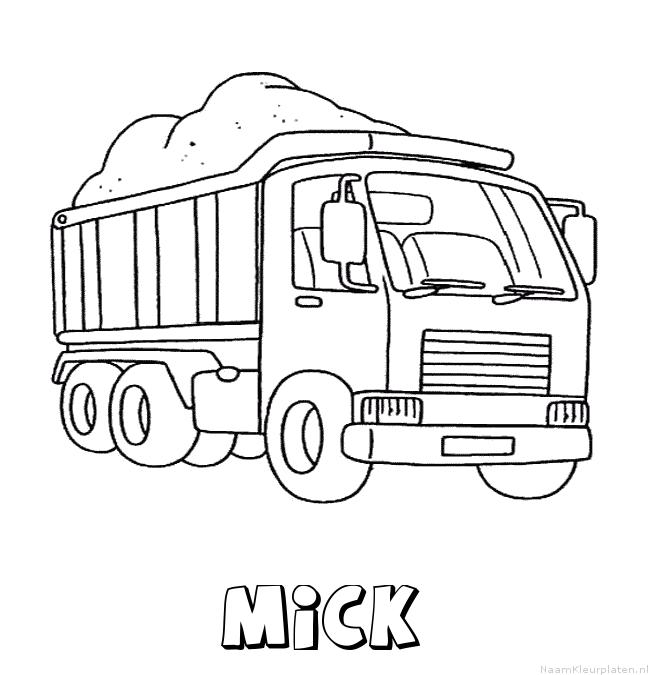 Mick vrachtwagen kleurplaat
