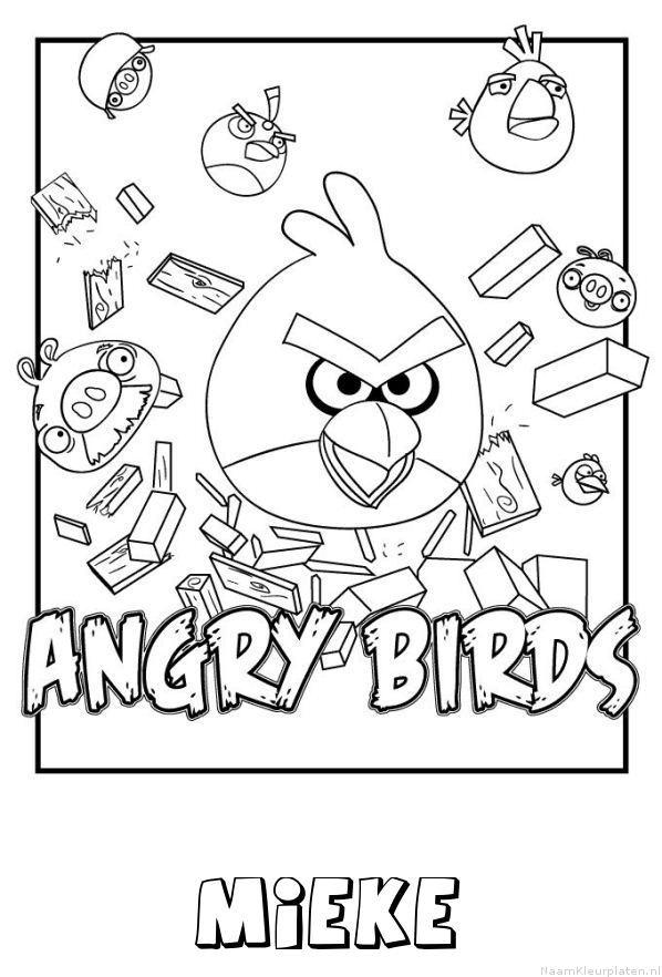 Mieke angry birds kleurplaat