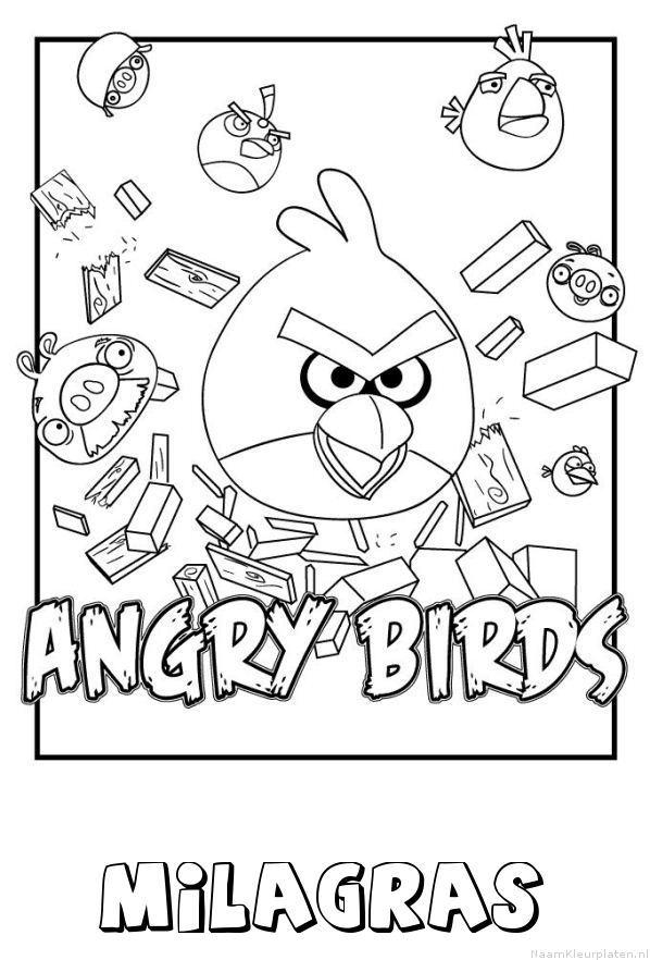 Milagras angry birds kleurplaat