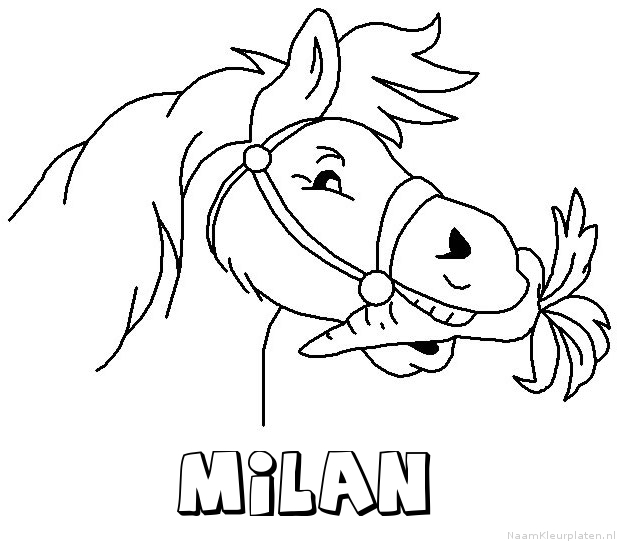 Milan paard van sinterklaas kleurplaat