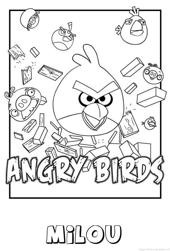 Milou angry birds kleurplaat