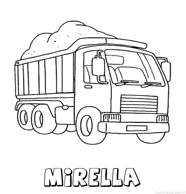 Mirella vrachtwagen kleurplaat