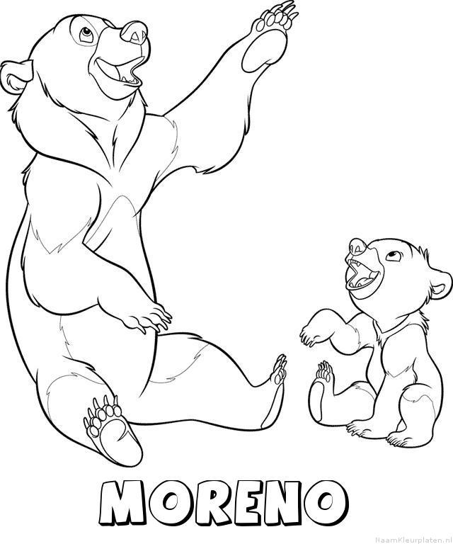 Moreno brother bear kleurplaat