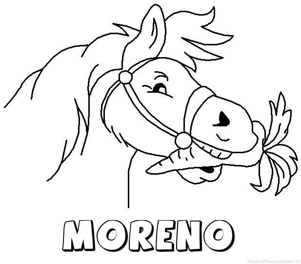 Moreno paard van sinterklaas kleurplaat
