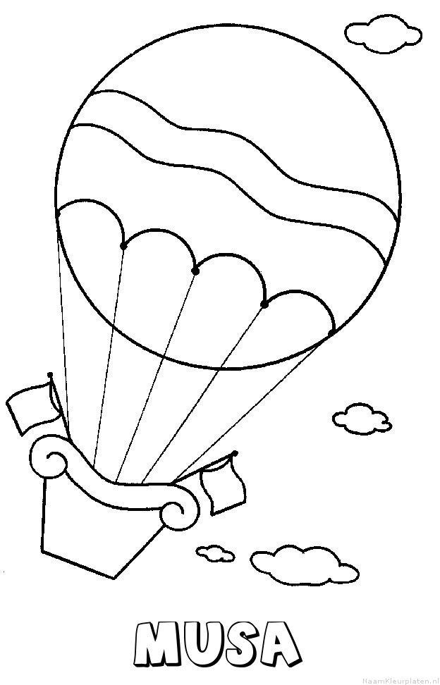 Musa luchtballon kleurplaat