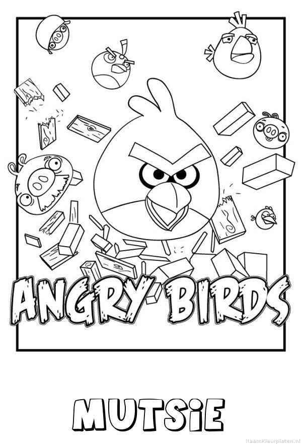 Mutsie angry birds kleurplaat
