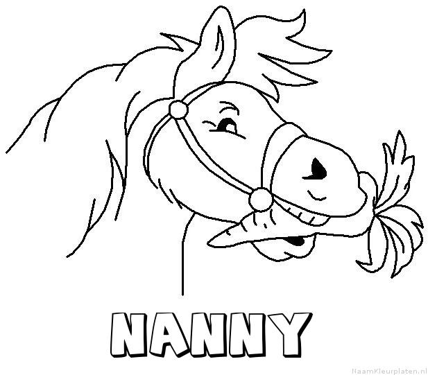 Nanny paard van sinterklaas kleurplaat