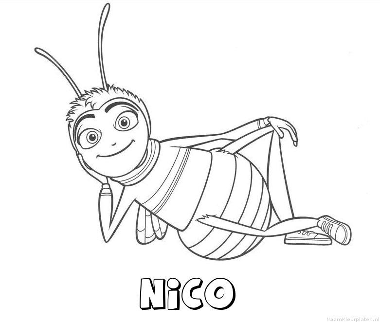 Nico bee movie kleurplaat
