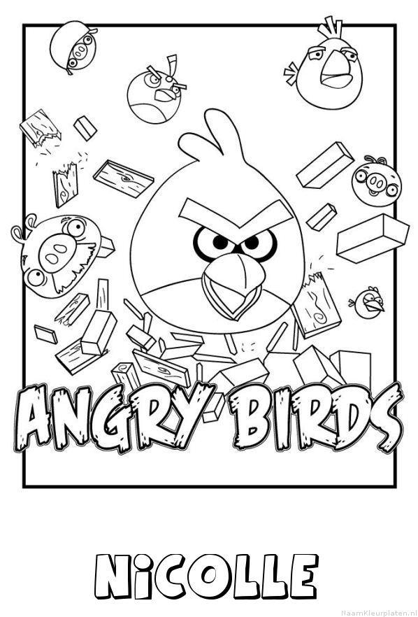 Nicolle angry birds kleurplaat