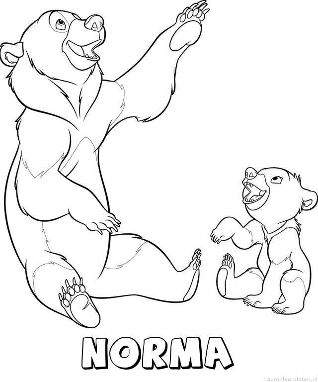 Norma brother bear kleurplaat