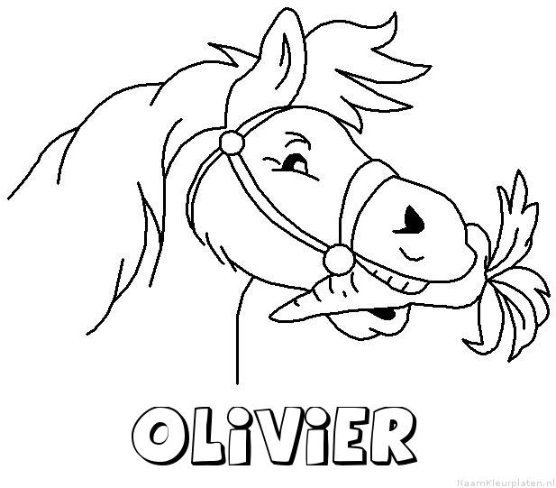 Olivier paard van sinterklaas kleurplaat