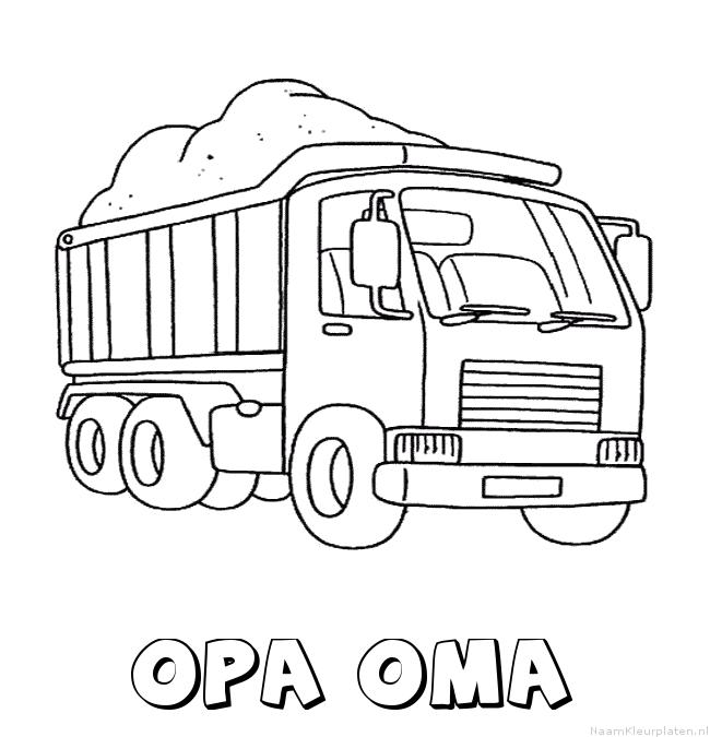 Opa oma vrachtwagen kleurplaat