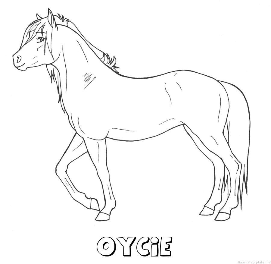 Oycie paard kleurplaat