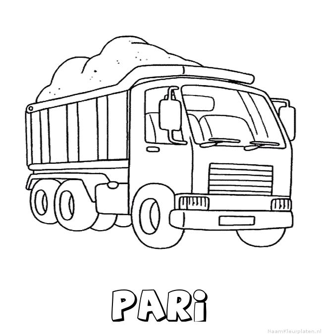 Pari vrachtwagen kleurplaat