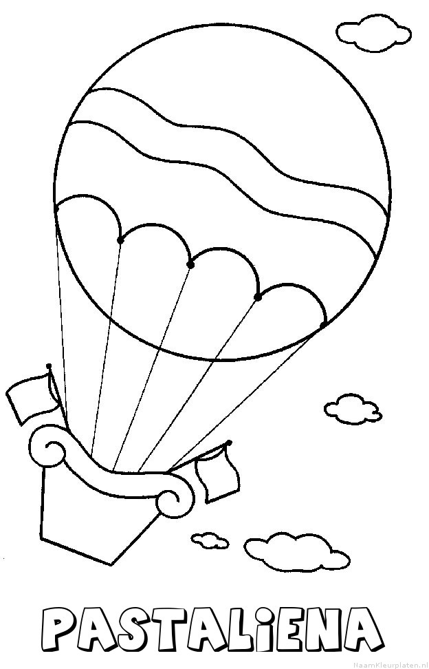 Pastaliena luchtballon kleurplaat