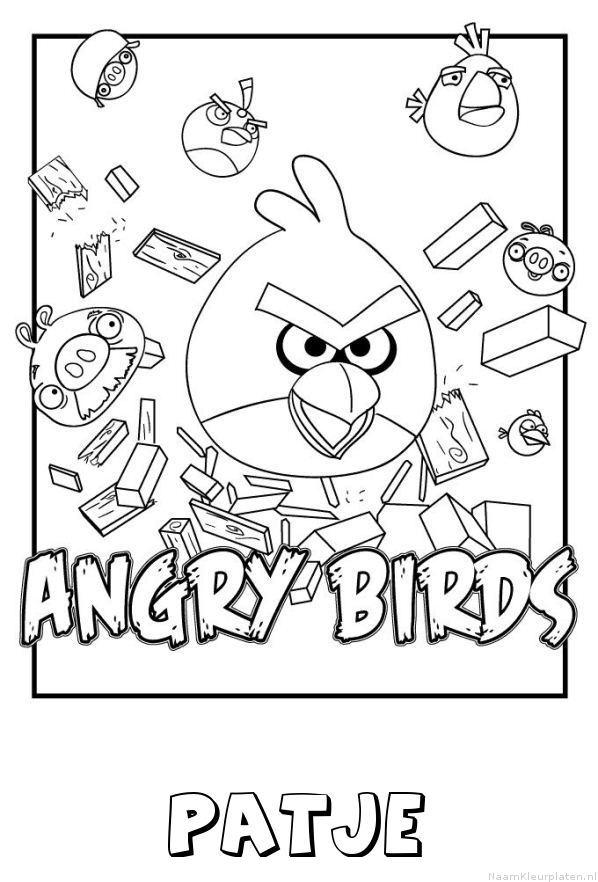 Patje angry birds kleurplaat