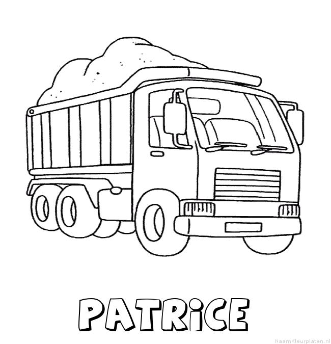 Patrice vrachtwagen kleurplaat