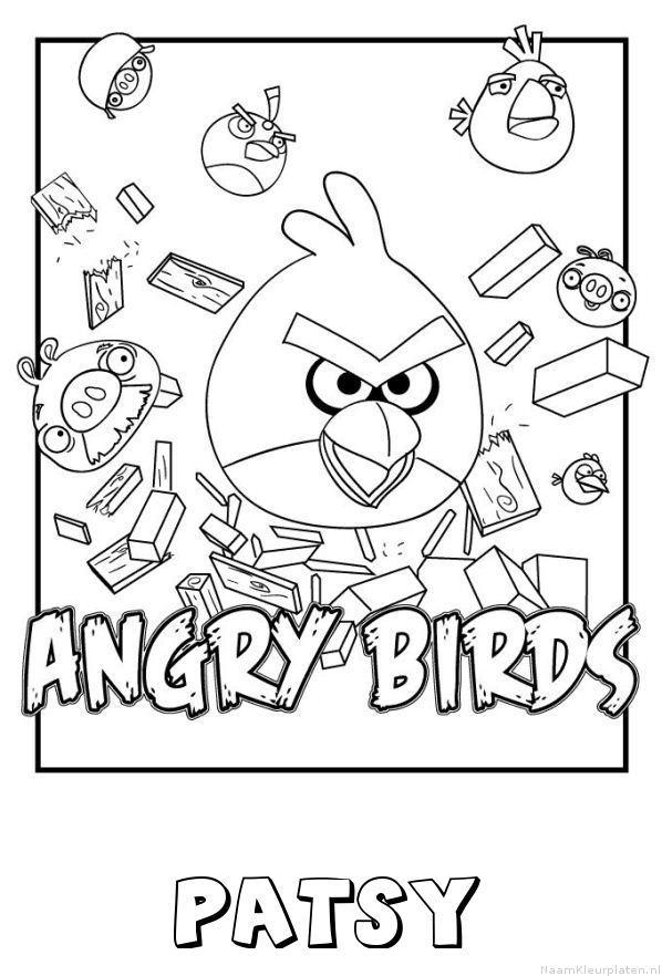 Patsy angry birds kleurplaat