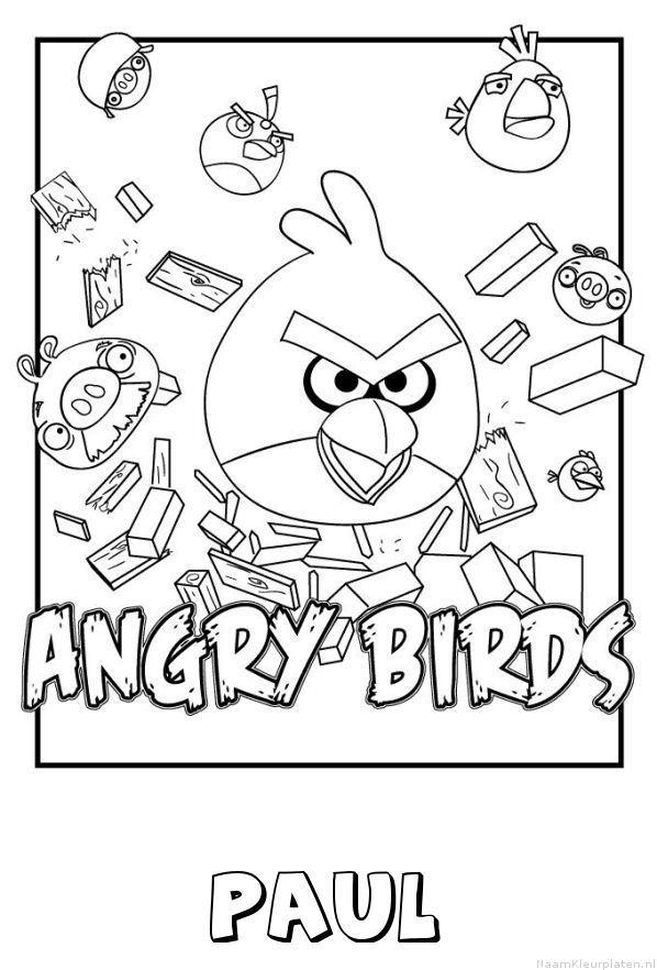 Paul angry birds kleurplaat