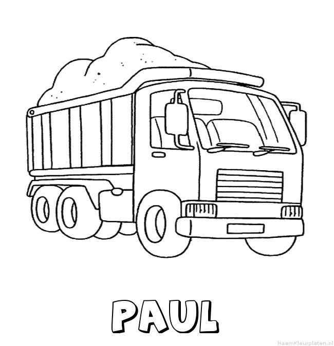 Paul vrachtwagen kleurplaat