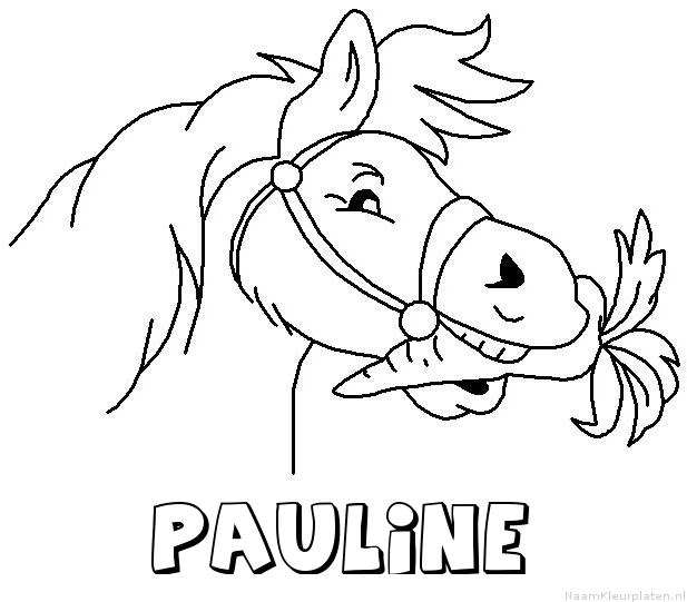 Pauline paard van sinterklaas kleurplaat