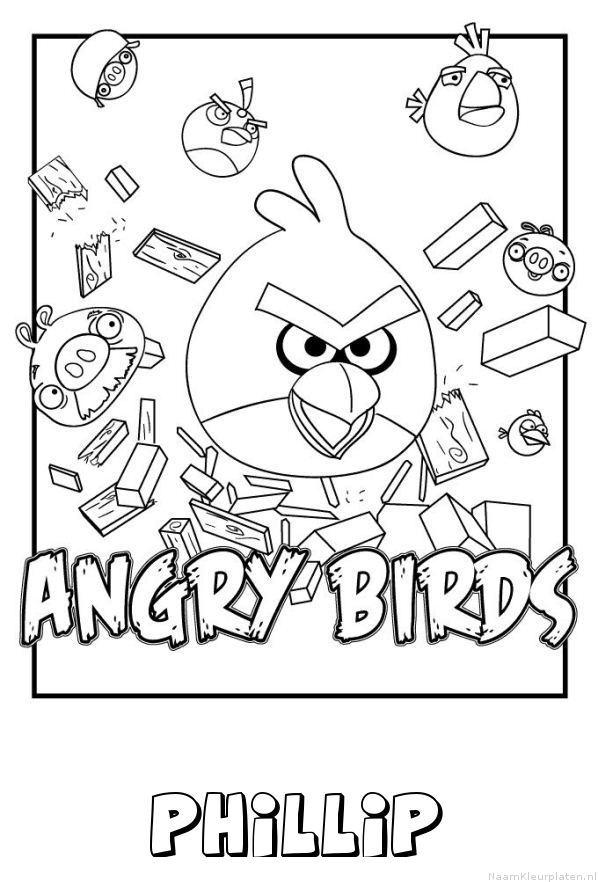 Phillip angry birds kleurplaat