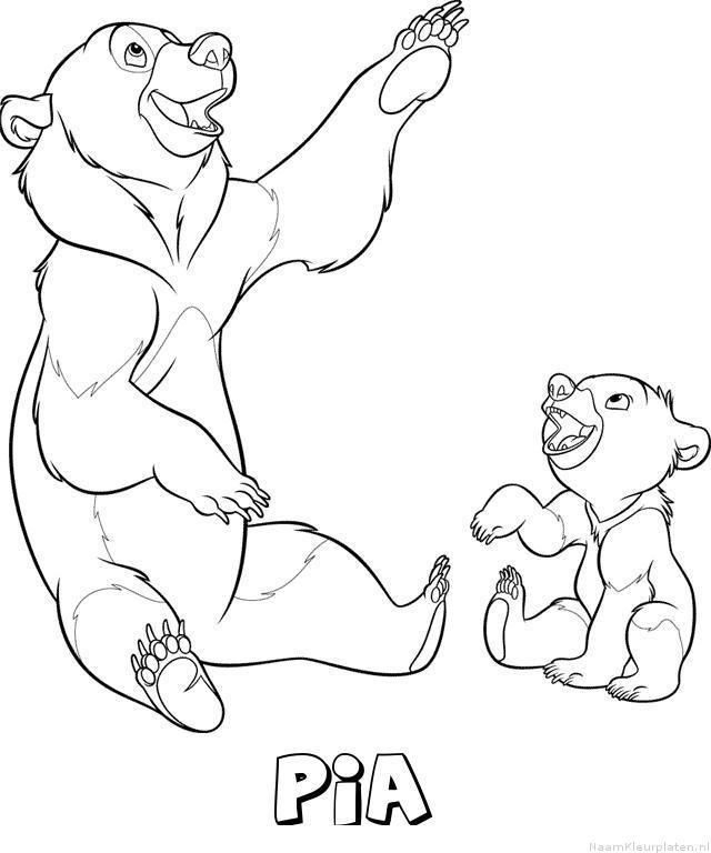 Pia brother bear kleurplaat