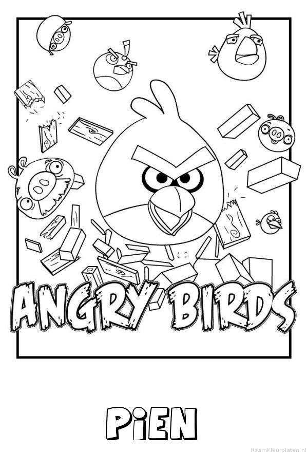 Pien angry birds kleurplaat