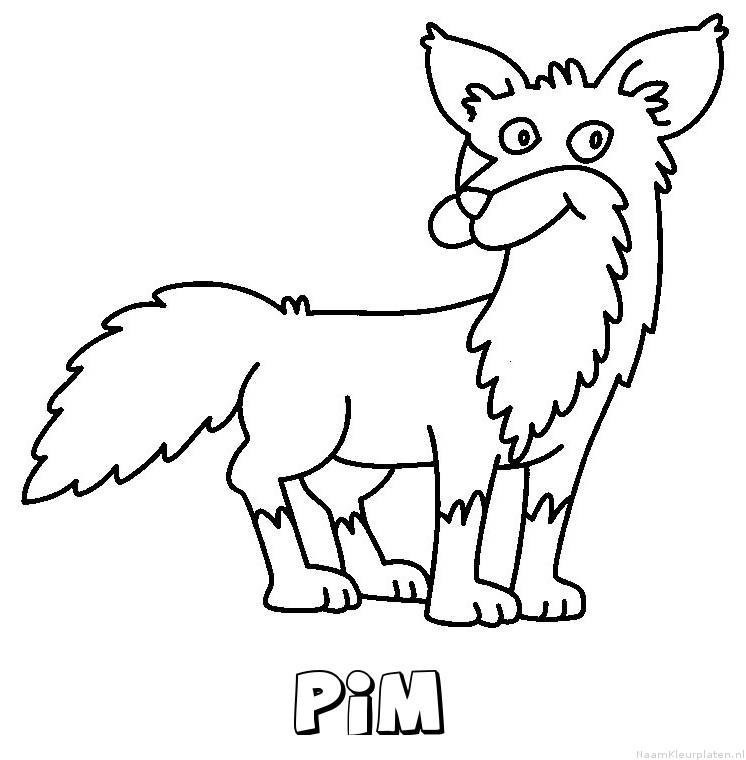 Pim vos kleurplaat